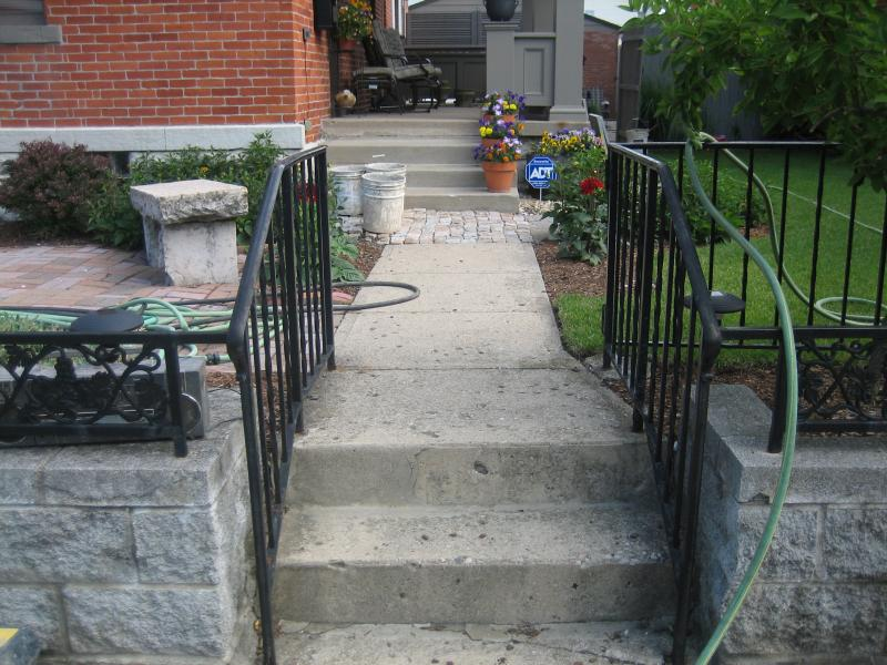 Concrete Steps and Walkway
