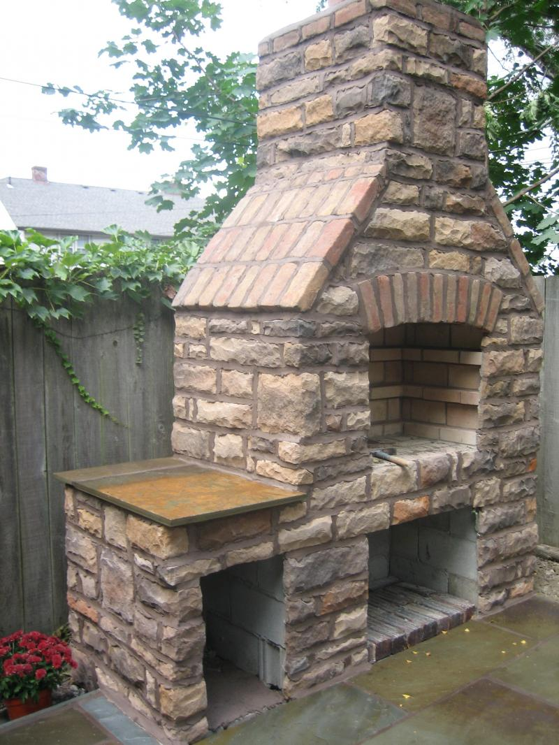 Stone Grill/Fireplace