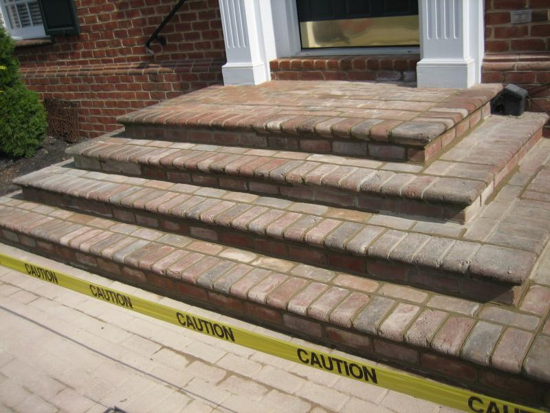Restored Brick Steps in New Albany