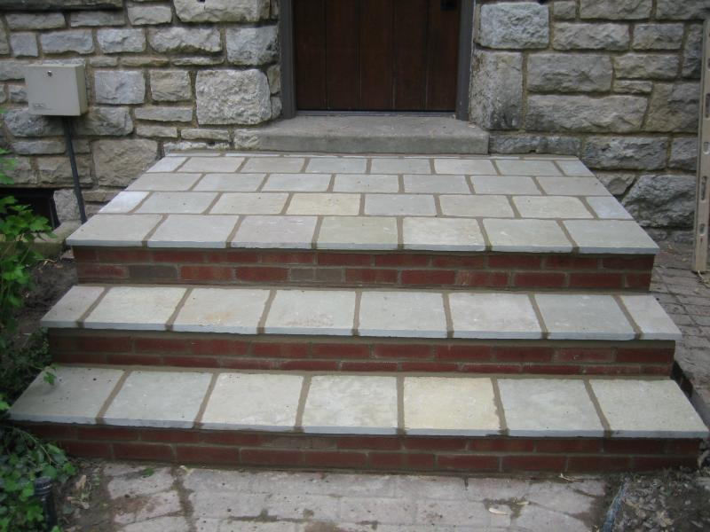 Refinished Brick and Stone Steps
