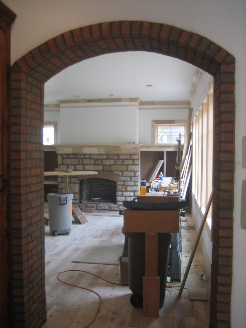 Brick arch doorway brick arch doorway interior