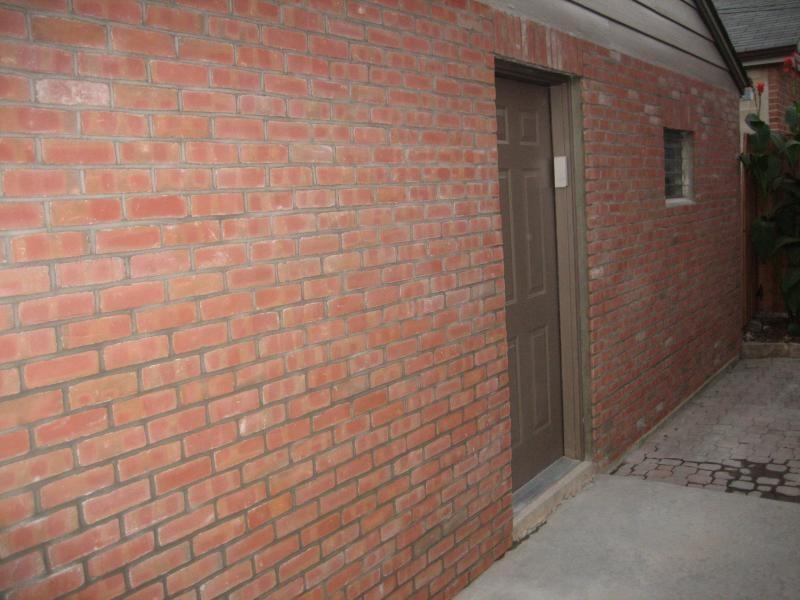 Garage Refinished with Brick