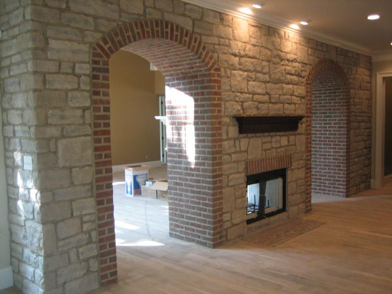 Old Ohio Stone Brick Great Lakes Stone Arched Doorway W Brick